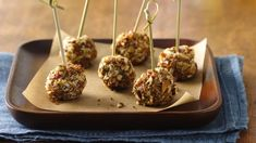 Bacon goat cheese pops