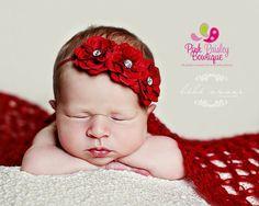 Baby Headbands, Infant Headbands, Baby Hair Accessoriesm Newborn Photo Shoot, Newborn Photo Props Newborn Headbands  Baby Headband  Red by Pinkpaisleybowtique, $9.95