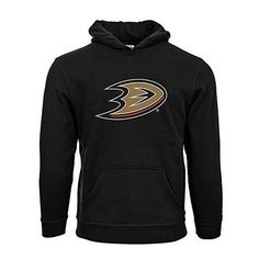 Levelwear Anaheim Ducks Suede Crest Eli Youth Pullover Hoodie Yl Black