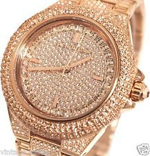 ***READ*** Michael Kors MK5862 Camille Rose Gold Pave GLITZ Crystal Watch $550
