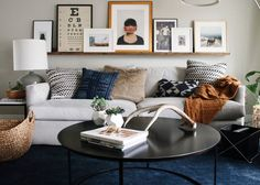 photo ledge above couch \ photo ledge above couch ; photo ledge above couch family rooms ; photo ledge above couch layout Shelves Over Couch, Above Couch, Living Room Shelves, Living Room Sofa, Living Room Decor, Art Over Couch, Living Rooms, Wall Shelves, Family Rooms