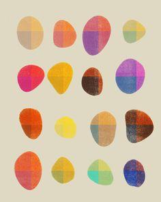Painted Pebbles 4 - Art Print by Garima Dhawan/Society6