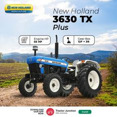 No. Of Cylinder 3 Engine HP 55 HP PTO HP 46.8 HP Gear Box 8+2 / 12+3 CR* / 12+3 UG* Brakes Oil Immersed Multi Disc Brakes Warranty 6000 Hours or 6 Year Tractor Price, New Tractor, New Holland Tractor, New Holland Agriculture, Control Valves, Tractors, Engineering, Fuel Efficiency, Oil