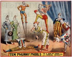 Antique CIRCUS Poster.  Vintage Clowns. Vintage Illustration. Circus  Digital DOWNLOAD. on Etsy, $1.99