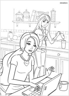 Barbie Coloring Pages Sheets Adult Doodle Art Teenagers Doodles Robots Kiss I Will Colouring In Dibujo