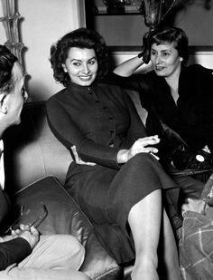 Sophia Loren with her mother, Romilda