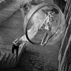 """In 1963, Melvin Sokolsky  shot these iconic images for Harper's Bazaar """"Bubble"""" Spring Collection."""
