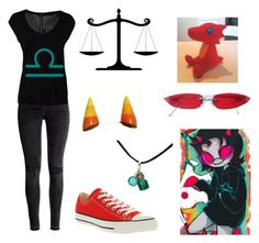 """Terezi Pyrope"" by kawaiikurai ❤ liked on Polyvore featuring H&M, OPUS Fashion and Converse"