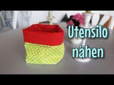 Utensilo Nähen - OHNE Schnittmuster - Nähtinchen - YouTube