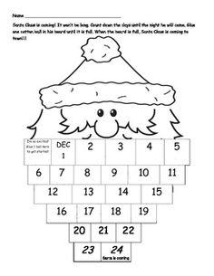 Santa Countdown FREEBIE