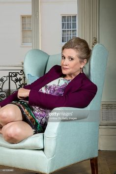 Actress Carrie Fisher is photographed for Self Assignment on August 17, 2015 in London, England Source: CarrieFisherClassics