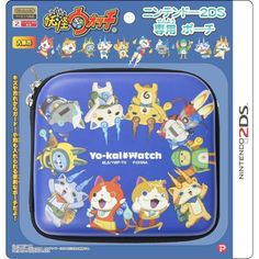 Yokai Watch Nintendo 2DS Pouch Blue Game Cover Case from Japan F/S #PLEX