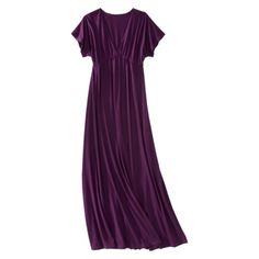 Cute and comfy looking maxi dress for summer! Comes in lots of colors, this is Viking Purple.  Mossimo Kimono Sleeve Maxi Dress from Target, $18.74.
