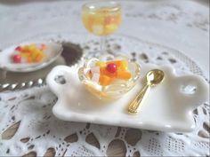 미니어쳐 후르츠 칵테일 토핑 만들기 / miniature fruit cocktail (plastic clay) - YouTube