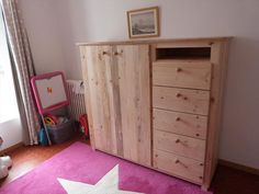 Pallet Wardrobe with Drawers | Pallet Furniture