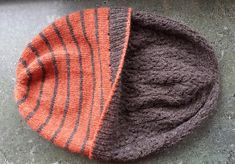 "I love hats of this type -- You can use sock yarns -- and put something wonderful like cashmere or angora on the inside. OR use Lorna's Laces SOLEMATE for the inside -- it has heat-managing fibers that keep your head from getting overheated, and wicks moisture away from your skin. Reversible hat ""Mrs.Jekyll Little Hyde"" by La Maison Rililie: FO by Stickinor on ravelry"