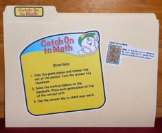 File Folder Game  Math Facts   CATCH On To by NoBatteryReqrdGames, $6.00