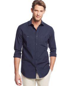 Alfani Black Fremont Checked Shirt