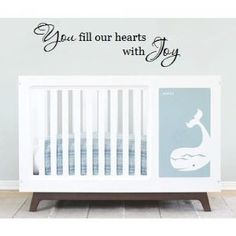 Amazon.com: You fill our heart with Joy 36x11.5 wall saying vinyl decal: Home & Kitchen