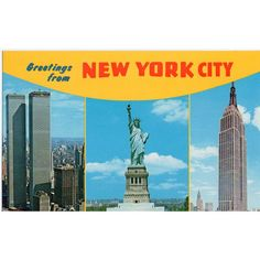Nester's Postcard Greetings from New York Twin Towers Empire State Lady Liberty Listing in the New York,USA,Topographical,Postcards,Collectables Category on eBid United Kingdom   148166673