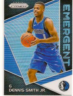 2017-18 Prizm Emergent Silver Dennis Smith, Jr Basketball Card. Dallas Mavericks.