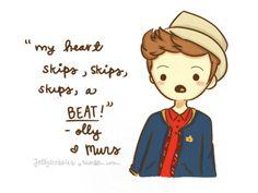 my heart skips, skips, skips a beat - Olly Murs