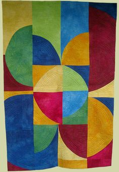 "Image of quilt titled ""InCircle"" by Melisse Laing"