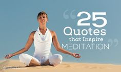 """""""The thing about meditation is…you become more and more you."""""""