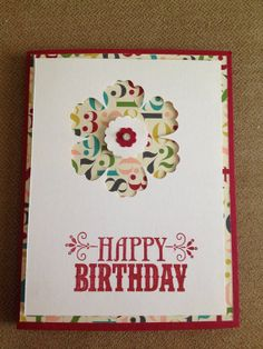 Happy Birthday Card  Made From All Stampin' Up products by bduwe, $2.00