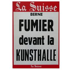 Klaus Rinke - Fumier devant la Kunsthalle (Manure outside the Kunsthalle) - 1970 - artistswhodothings