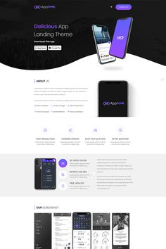 Applook Landing Page Template - Landing Pages - Create a landing pages with drag and drop. Easily make your landing page in 3 minutes. - Applook App Clean Landing Page Template Design Sites, Web Design Websites, Web Design Trends, Layout Design, Graphisches Design, Web Layout, Flat Design, Website Design Inspiration, Landing Page Inspiration