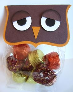 Paper Owl Gift Packaging for candy. What a hoot!