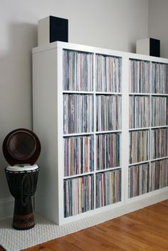- Drew & Annie's Calm & Collected Record Collection - #music #records #vinyl #recordstorage #recordcollection http://www.pinterest.com/TheHitman14/for-the-record/