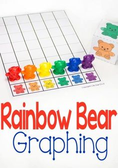 Kids will love graphing with this free printable rainbow bear graph and printable dice! Such a fun way to learn about colors and math! Early Learning Activities, Graphing Activities, Math Activities For Kids, Color Activities, Preschool Learning, Kindergarten Math, Teaching Math, Kids Math, Number Activities
