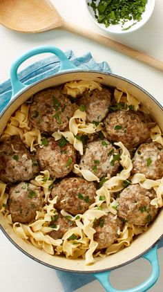 """Cozy, comfort food at its finest, these easy, creamy Swedish meatballs with egg noodles come together in just one pot! """"My husband couldn't stop telling me how good it is and that I should definitely make it again!"""" says Betty member HumbleBlonde."""