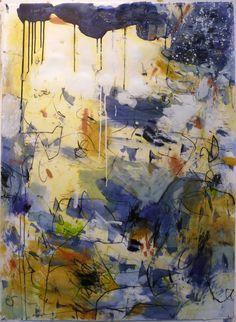 Krista Harris-Bluebird 42x23 mixed media on paper