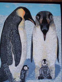 "Saatchi Online Artist Teresa Peterson; Painting, ""Penguin Family"" #art"