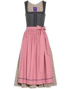 Dirndl in grey and pale pink, this is definitely something different!
