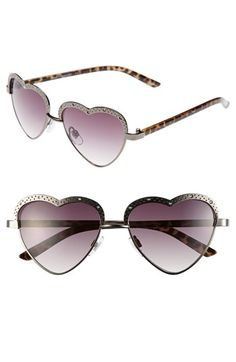 Super cute sunglasses!!  I want heart sunglasses!!