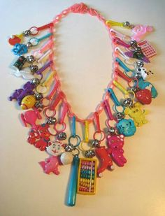 Remember? 1980's charm necklaces and bracelets