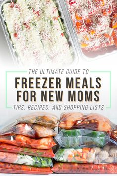 Are you pregnant right now? Let me tell you what you need to do: Stock your freezer with freezer meals! Having healthy meals on-hand when you're caring for a newborn is the best thing ever. Freezable Meals, Budget Freezer Meals, Healthy Freezer Meals, Make Ahead Meals, Freezer Cooking, Healthy Crockpot Recipes, Frugal Meals, Raw Food Recipes, Easy Meals