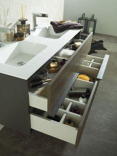 В эти дни компания Gamadecor представит на выставке ISH Frankfurt новую коллекцию компактной подвесной мебели для ванных комнат под названием Folk, которая отличается приятной на ощупь отделкой. Contemporary Bathrooms, Beautiful Bathrooms, Kitchen And Bath, Interior Inspiration, Shoe Rack, Bathroom Ideas, Bathing, Sink, Design