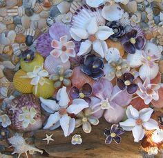 Seashell Flowers by CraftyShells on Etsy, $16.00