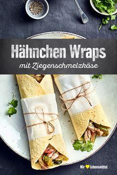 Saftiges Hähnchenfleisch umhüllt von Babyspinat, Ziegenschmelzkäse und weichem Fladenbrot. Unsere Wraps mit Feigen sind ein leckerer Snack! #edeka #wraps #ziegenkäse #hähnchen #rezept