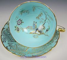 PARAGON ORIENTAL CHINOISERIE FINE BONE ENGLAND TEA CUP AND SAUCER