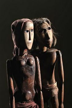 "Pavel Kalfus: rod puppets from the play ""Mowgli"", 1966"