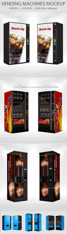 Vending Machine Mockup Set - Product Mock-Ups Graphics