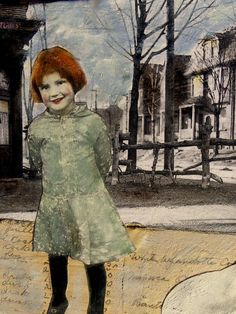 Annie Mae a vintage narrative portrait painting by MaudstarrArt, sold