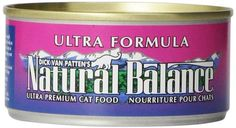 Natural Balance Canned Cat Food, Ultra Formula, 24 x 6 Ounce Pack