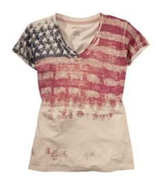 Natural Reflections® Americana Collection Vintage Flag Slub Jersey Tee for Ladies - Short Sleeve | Bass Pro Shops
